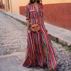 Gorgeous Colors Long Dress Size M